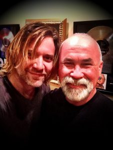 with my friend James Michael {SixxAM)