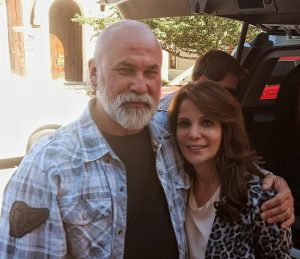 with Nellie Sciutto on The Body Sculptor set